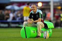 Harlequins Director of Rugby Conor O'Shea looks on during the pre-match warm-up - Photo mandatory by-line: Patrick Khachfe/JMP - Mobile: 07966 386802 12/09/2014 - SPORT - RUGBY UNION - London - Twickenham Stoop - Harlequins v Saracens - Aviva Premiership