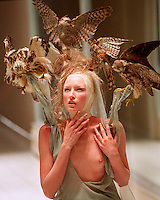 The late great Alexander McQueen fashion show.