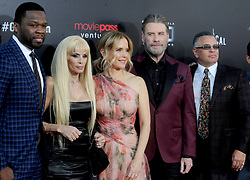 Rapper 50 Cent, writer Victoria Gotti, actors Kelly Preston, John Travolta and John A. Gotti attending the New York Premiere of 'Gotti' at SVA Theater on June 14, 2018 in New York City, NY, USA. Photo by Dennis Van Tine/ABACAPRESS.COM