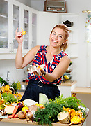 Swedish chef Tina Nordström from a campaign 2017.<br /> Photo by Ola Torkelsson<br /> Copyright Ola Torkelsson ©