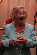 Liz Smith, Oldie of the Year Awards. Simpsons-in-the-Strand. London. 13 March 2007.  -DO NOT ARCHIVE-© Copyright Photograph by Dafydd Jones. 248 Clapham Rd. London SW9 0PZ. Tel 0207 820 0771. www.dafjones.com.