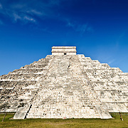 El Castillo (also known as Temple of Kuklcan) at the ancient Mayan ruins at Chichen Itza, Yucatan, Mexico