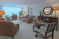 Architectural interior image of Edenwald Apartments in Towson Maryland by building photographer Jeffrey Sauers