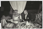 ANNA MURDOCH, HON ANGUS OGILVY, MALCOLM FORBES BIRTHDAY PARTY.  Forbes weekend, TANGIER 1989