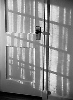 Afternoon shadows hitting a wooden door in my old house... Emerson Street, Denver, Colorado.