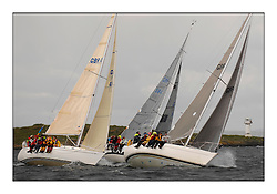Brewin Dolphin Scottish Series 2010, Tarbert Loch Fyne - Yachting..Day one stated late but resulted in good conditions on Loch Fyne..Class 5 boats Kudos 2, Kapeesh by Skate Lighthouse...