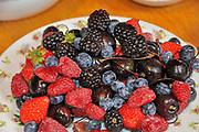 Assortment of Fresh Berries and Cherries