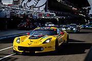June 10-16, 2019: 24 hours of Le Mans. 64 CORVETTE RACING, CHEVROLET CORVETTE C7.R, Oliver GAVIN, Tommy MILNER, Marcel FÄSSLER , morning warmup
