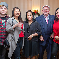 Tristan Feery, Hazel Marrinan, Eva Marrinan, Chris Sexton and Rosaliah Sexton from Spanish Point at the Clare Limousin Breeders Annual Dinner Dance at the Bellbrige Hotel, Spanish Point on Saturday night