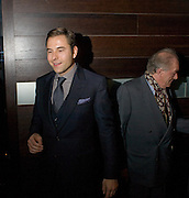 David Walliams; Michael Gambon, The afterparty following the press night of 'No Man's Land', at Mint Leaf. Haymarket October 7, 2008 *** Local Caption *** -DO NOT ARCHIVE-© Copyright Photograph by Dafydd Jones. 248 Clapham Rd. London SW9 0PZ. Tel 0207 820 0771. www.dafjones.com.