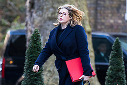 © Licensed to London News Pictures. 27/02/2018. London, UK. Secretary of State for International Development Penny Mordaunt on Downing Street. Photo credit: Rob Pinney/LNP