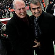 Besiktas's and Galatasaray's during their Turkish Super League soccer derby match Besiktas between Galatasaray at the Ataturk Olimpiyat stadium in Istanbul Turkey on Monday, 14 December 2015. Photo by Aykut AKICI/TURKPIX