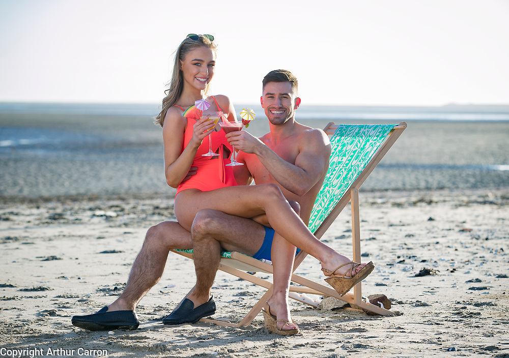 NO FEE PICTURES<br /> 15/1/20 Models Ciara Owens and Eoin Costello get summer ready at a photocall for the Holiday World Show's 30th Anniversary show, showcasing some wonderful holiday opportunities in the RDS Simmonscourt from 24th-26th January 2020. Picture: Arthur Carron.