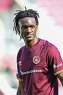 Armand Gnanduillet (#9) of Heart of Midlothian FC during the SPFL Championship match between Heart of Midlothian and Inverness CT at Tynecastle Park, Edinburgh Scotland on 24 April 2021.