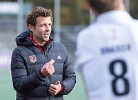 AMSTELVEEN - Coach Xanti Freixa (Amsterdam)  na  de    hoofdklasse hockeywedstrijd mannen,  AMSTERDAM-PINOKE (1-3) , die vanwege het heersende coronavirus zonder toeschouwers werd gespeeld. COPYRIGHT KOEN SUYK