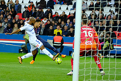 February 17, 2018 - Paris, France - Paris SG Forward NEYMAR JR in action during the League 1 French championship match Paris SG against Strasbourg RC at the Parc des Princes Stadium in Paris - France..Paris SG won 5-2 (Credit Image: © Pierre Stevenin via ZUMA Wire)
