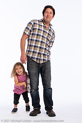 Shawn Camden with his daughter Lyla at the Intercambio portrait Shoot. Longmont, CO, USA. June 5, 2021. Photography ©2021 Michael Lichter. Usage rights granted to Intercambio Uniting Communities and its assigns.