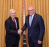 September 22, 2021 - DC: Leader Mitch McConnell Meets Prime Minister Scott Morrison of Australia