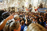 Ambiance Argentina fans at Nikolskaya Plaza during the 2018 FIFA World Cup Russia on June 13, 2018 in Moscow, Russia - Photo Thiago Bernardes / FramePhoto / ProSportsImages / DPPI