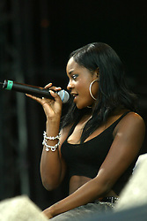 Keisha Buchanan of The Sugarbabes on the main stage, on Sunday 13th July, 2003 at T in the Park..Pic ©2010 Michael Schofield. All Rights Reserved.