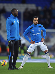 Everton's Theo Walcott warms up