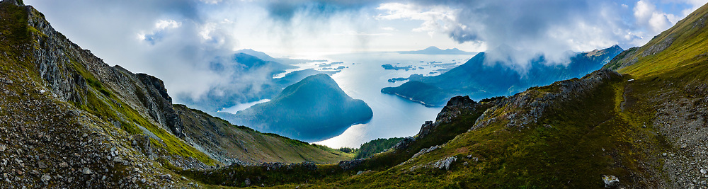 Aerial view of Sitka Sound from Bear Mountain, Sitka, , Alaska, USA