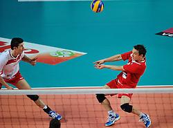 12-02-2012 VOLLEYBAL: BEKERFINALE EUPHONY ASSE LENNIK - NOLIKO MAASEIK: ANTWERPEN<br /> Noliko Maaseik wint vrij eenvoudig de beker van Belgie. In de finale waren zij met 25-21 25-18 en 25-19 te sterk voor Asse Lennik / <br /> ©2012-FotoHoogendoorn.nl