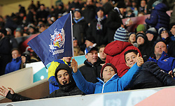 Bristol Rugby supporters at Ashton Gate - Mandatory by-line: Paul Knight/JMP - 13/01/2017 - RUGBY - Ashton Gate - Bristol, England - Bristol Rugby v Bath Rugby - European Challenge Cup