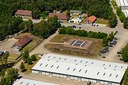 Nederland, Gelderland, Veluwe, 29-05-2019; Majoor Mulderkazerne net ten noorden van Stroe, militaire gebouwen in het bos.<br /> Majoor Mulder barracks.<br /> luchtfoto (toeslag op standard tarieven);<br /> aerial photo (additional fee required);<br /> copyright foto/photo Siebe Swart