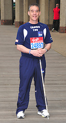 © under license to London News Pictures. 15/04/2010  Pc David Rathband (tango 196) who was shot and blinded by Raoul Moat attends photocall ahead of this Sundays 2011 London Virgin Marathon by Tower Bridge London. Photo credit should read ALAN ROXBOROUGH /LNP