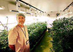 September 13, 2016 - Freeport, Iowa, U.S. - President, CEO Larry Kiest, Jr. talks about stage of development of the plants in one of the flower rooms during a tour of the In Grown Farms LLC medical marijuana grow house near Freeport, Illinois Tuesday, September 13, 2016. (Credit Image: © Kevin E. Schmidt/Quad-City Times via ZUMA Wire)