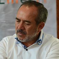 """Toluca, México.- Luis Salas Galvan, comité organizador del 4 torneo de Golf, durante conferencia de prensa, donde anunciaron el Cuarto Torneo de Golf """"Jugando por la Educación"""", evento organizado por la Fundación UAEMEX. Agencia MVT / Arturo Hernández."""