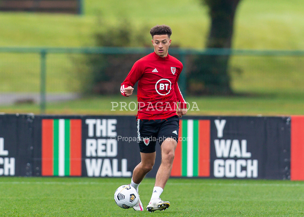 CARDIFF, WALES - Monday, October 5, 2020: Wales' Ethan Ampadu during a training session at the Vale Resort ahead of the International Friendly match against England. (Pic by David Rawcliffe/Propaganda)
