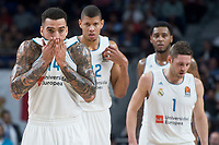 Real Madrid Jeffery Taylor, Walter Tavares, Trey Thompkins and Fabien Causeur during Turkish Airlines Euroleague match between Real Madrid and Valencia Basket at Wizink Center in Madrid, Spain. December 19, 2017. (ALTERPHOTOS/Borja B.Hojas)