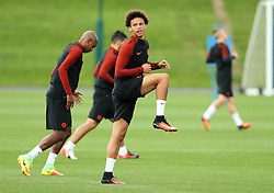 Leroy Sane of Manchester City warms up - Mandatory by-line: Matt McNulty/JMP - 12/09/2016 - FOOTBALL - Manchester City - Training session ahead of Champions League Group C match against Borussia Monchengladbach