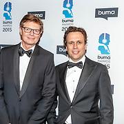 NLD/Hilversum/20150217 - Inloop Buma Awards 2015, BumaStemra directie-voorzitter Hein van der Ree en ...........