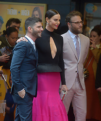 Various celebrities attend The Long Shot UK Premier. 25 Apr 2019 Pictured: Charlize Theron Seth Rogan. Photo credit: MEGA TheMegaAgency.com +1 888 505 6342