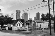At the 6th Ward Houston with skyline in the background