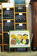 wine shop shelves domaine michel juillot mercurey burgundy france