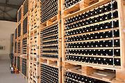 Bottles aging in the cellar. Ktima Pavlidis Winery, Drama, Macedonia, Greece