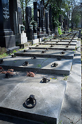 Row cemetery tombstones graves Vienna central