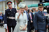 Headley Court Defence Medical Rehabilitation Centre - Farewell Parade, Dorking High Street<br /> <br /> The Countess of Wessex, arrives in Dorking High Street to take  the salute as the armed forces, veterans, cadets and other personnel from Headley Court <br /> <br /> COLORSPORT/ANDREW COWIE