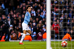 Leroy Sane of Manchester City scores a goal but it is ruled out for offside - Mandatory by-line: Robbie Stephenson/JMP - 12/03/2019 - FOOTBALL - Etihad Stadium - Manchester, England - Manchester City v Schalke - UEFA Champions League, Round of 16, 2nd leg