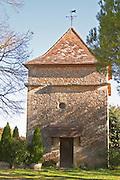 The dove cote colombier Truffiere de la Bergerie (Truffière) truffles farm Ste Foy de Longas Dordogne France