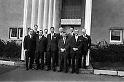 03/04/1963<br /> 04/03/1963<br /> 03 April 1963<br /> Conference at Industrial Research and Standards Building.<br /> Two day conference for the surface coating industry held by the Institute for Industrial Research and Standards in collaboration with the Irish Paint Manufacturers Federation Ltd. and the Irish Branch of the Oil Colour Chemists Association at the Institutes building in Dublin. Picture shows a group of the attendees to the conference.