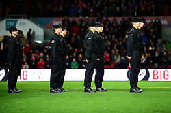 Royal Tank regiment walk out on to the pitch at Ashton Gate - Mandatory by-line: Dougie Allward/JMP - 05/11/2016 - FOOTBALL - Ashton Gate - Bristol, England - Bristol City v Brighton and Hove Albion - Sky Bet Championship