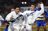 Parma 10/1/2004<br />Parma Inter 1-0<br />Julio Cruz (Inter) e Fabio Cannavaro (Inter)<br />Photo Andrea Staccioli Graffiti
