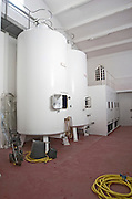 Fermentation tanks. Chateau Gaillard, Saint Emilion, Bordeaux, France