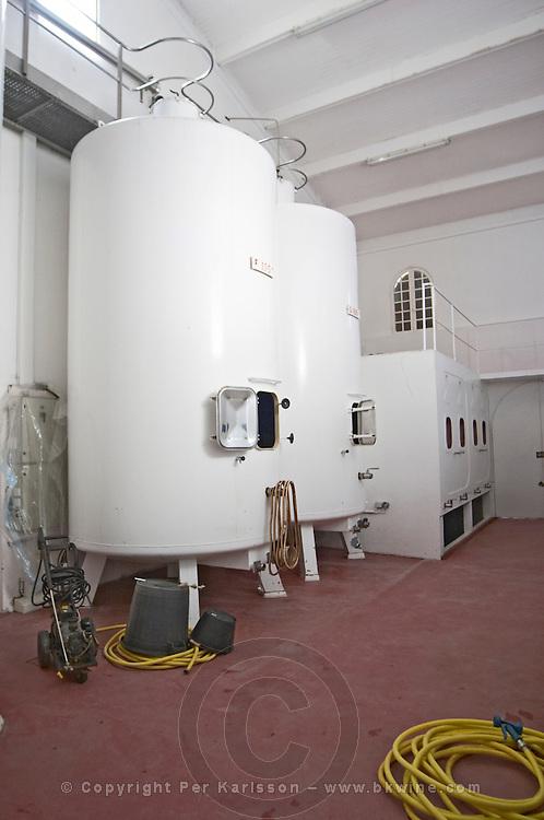 Fermentation tanks. Chateau Gaillard, Saint Emilion, Bordeaux, France