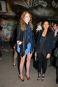 LILY COLE; RACHAEL BARRETT, STEVE LAZARIDES LAUNCHES ÔMINOTAURÕ Ð A LABYRINTHINE EXHIBITION TAKING OVER THE OLD VIC TUNNELS OVER FRIEZE WEEK FROM 11-25 OCTOBER. Waterloo. London. 10 October 2011. <br /> <br />  , -DO NOT ARCHIVE-© Copyright Photograph by Dafydd Jones. 248 Clapham Rd. London SW9 0PZ. Tel 0207 820 0771. www.dafjones.com.<br /> LILY COLE; RACHAEL BARRETT, STEVE LAZARIDES LAUNCHES 'MINOTAUR' – A LABYRINTHINE EXHIBITION TAKING OVER THE OLD VIC TUNNELS OVER FRIEZE WEEK FROM 11-25 OCTOBER. Waterloo. London. 10 October 2011. <br /> <br />  , -DO NOT ARCHIVE-© Copyright Photograph by Dafydd Jones. 248 Clapham Rd. London SW9 0PZ. Tel 0207 820 0771. www.dafjones.com.